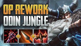 NEW ODIN VS 4 PROS Odin Jungle Gameplay (SMITE Season 7 PTS)