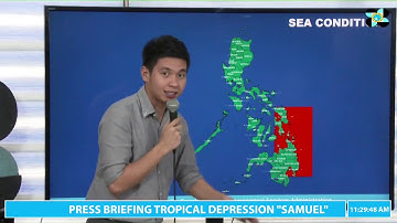 "Press Briefing:Tropical Depression ""#SamuelPH"" Monday, 11 AM November 19, 2018"