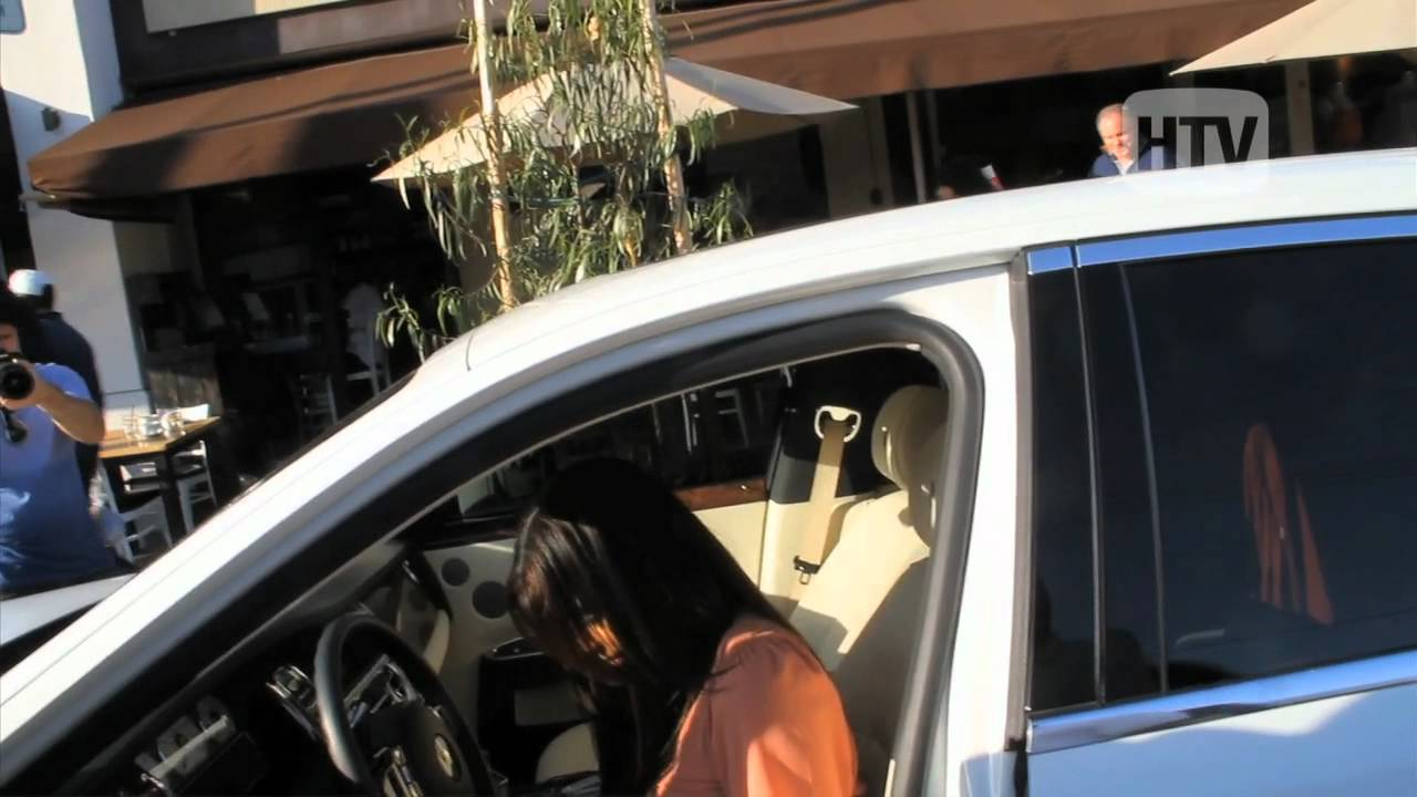 Ivory Rolls Royce Kim Kardashian Spotted Running Errands In