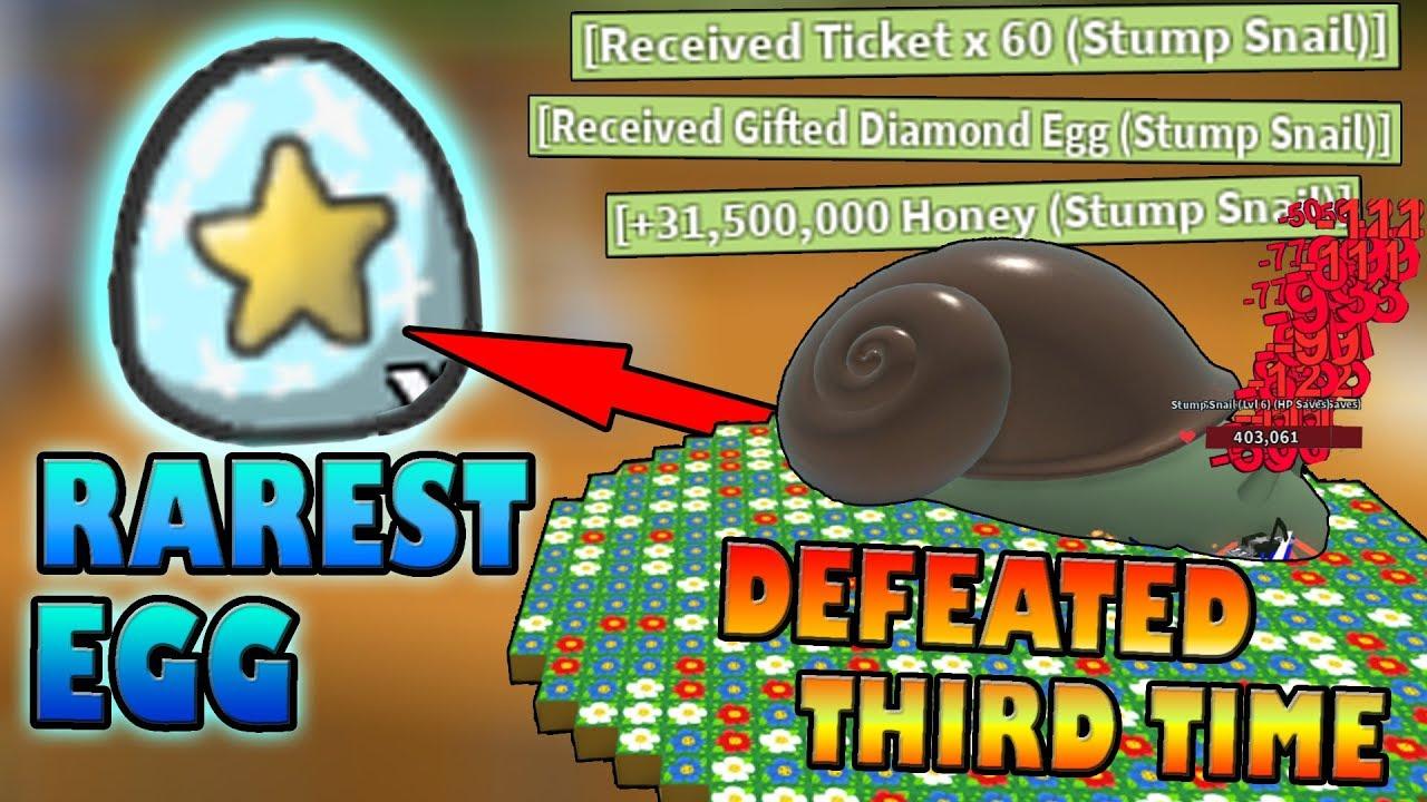 Defeating Snail Boss Third Time For Op Reward Roblox Bee