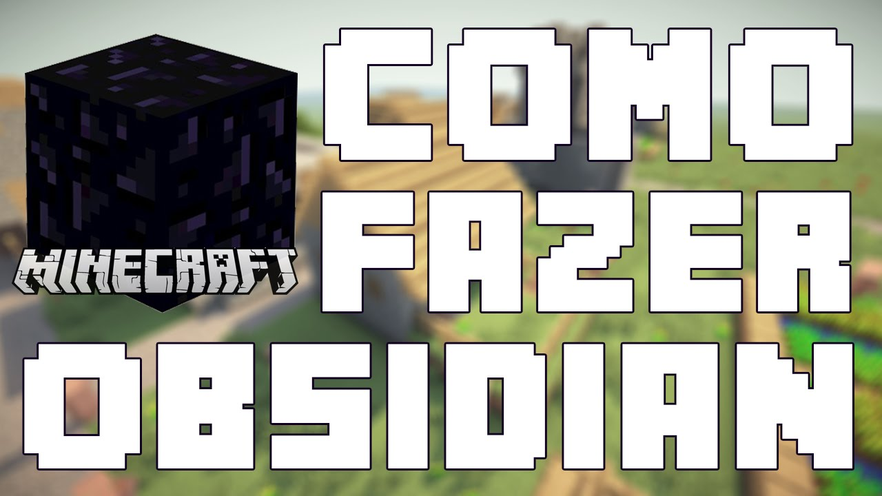 Minecraft  Tutoriais  Como fazer Obsidian  YouTube -> Como Fazer Banheiro Moderno No Minecraft