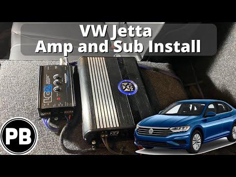 2019 – 2021 VW Jetta Sub and Amp Install