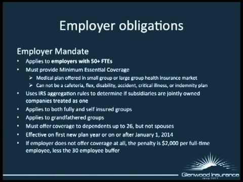 Straight Talk about the Affordable Care Act - Employer Obligations