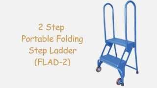 2 Step Portable Folding Step Ladder (flad-2), Heavy Duty