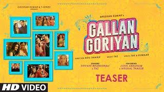 Teaser: Gallan Goriyan |John Abraham, Mrunal T | Dhvani B, Taz | Bhushan Kumar | Releasing ►11 June