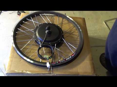 "Unbox: 1000W 48V Electric Bike brushless Front hub motor conversion kit w/ Standard 26"" rim"