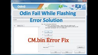 Samsung Galaxy J7 SM-J710f CM.bin Error Solution Fix || How To Fix All Samsung Galaxy Flash Failed