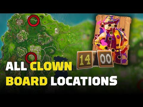 Fortnite: Carnival Clown Boards (All Locations)