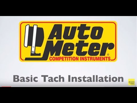 autometer basic tach installation wiring instructions tutorial how-to -  youtube