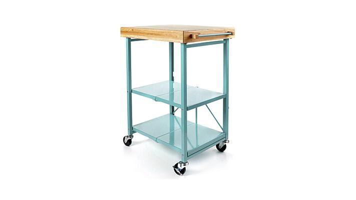 Origami Folding Kitchen Island Cart How Much For Cabinets With Casters Youtube