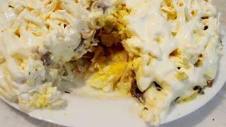 Простой и вкусный Польский Салат(Очень простой в приготовлении