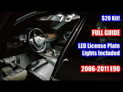 BEST E90 INTERIOR WHITE LED CONVERSION GUIDE + LICENSE PLATE LIGHTS