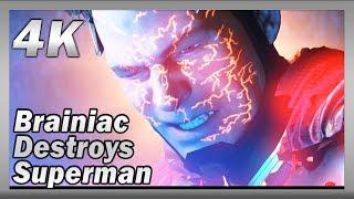 Injustice 2 (PC) | Brainiac destroys Superman | 4K Gameplay