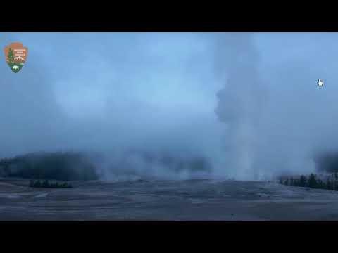 Веб камера  с  вулкана Йелоустон  фиксирует аномальную активность