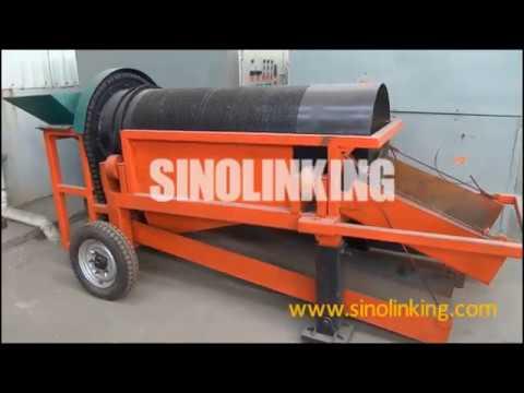 SLK-MGT5 Small gold trommel with 5-10 ton per hour capacity
