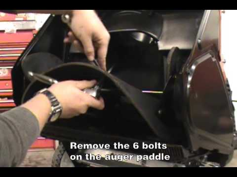 replacing-the-auger-paddles---toro-single-stage-snow-blower
