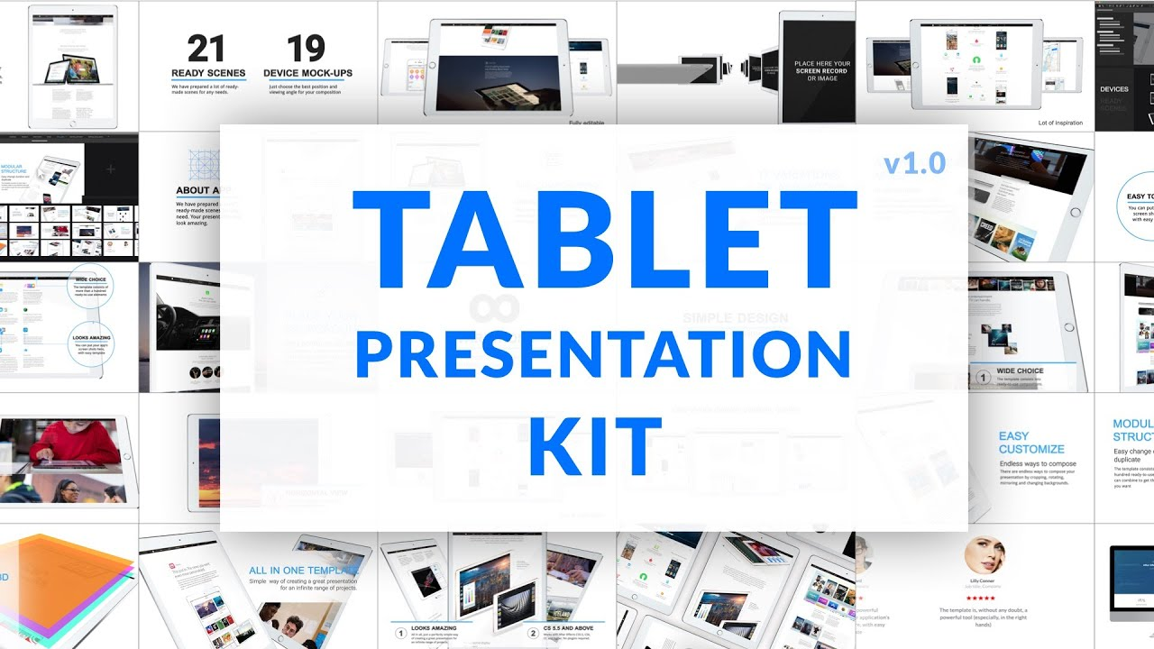 ipad video presentation kit | after effects template - youtube, Presentation templates