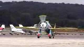 Mayocraft P-26 Peashooter aircraft taxi test