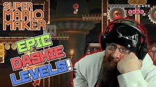 EPIC DASHIE LEVELS - Super Mario Maker - Oshikorosu takin' those Dashie W's.