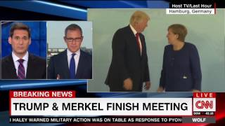 CNN Obsesses Over Who Initiated Handshake Between Trump and Merkel