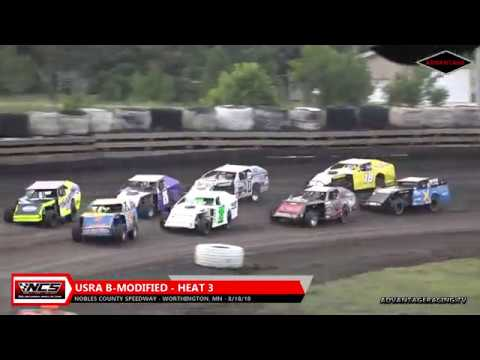 B-Modified Heats - Nobles County Speedway - 8/18/18