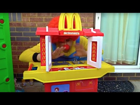 Kids Buying Food Pretend Play at McDonald's