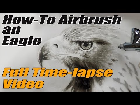 How To Airbrush an Eagle: Full Time Lapse Video
