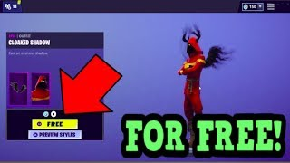 HOW TO GET CLOAKED SHADOW SKIN FOR FREE! (Fortnite Old Skins)