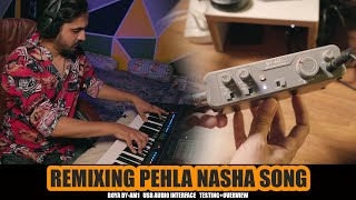 REMIXING PEHLA NASHA SONG | BOYA BY-AM1 TESTING + OVERVIEW | Mansoor Qureshi MAANi