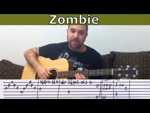 Fingerstyle Tutorial: Zombie - Guitar Lesson w/ TAB