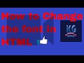 how to code html for beginners - 11 - How to Change the paragraph font to  Times New Roman