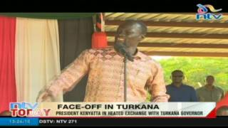 President Kenyatta in heated exchange with Turkana Governor
