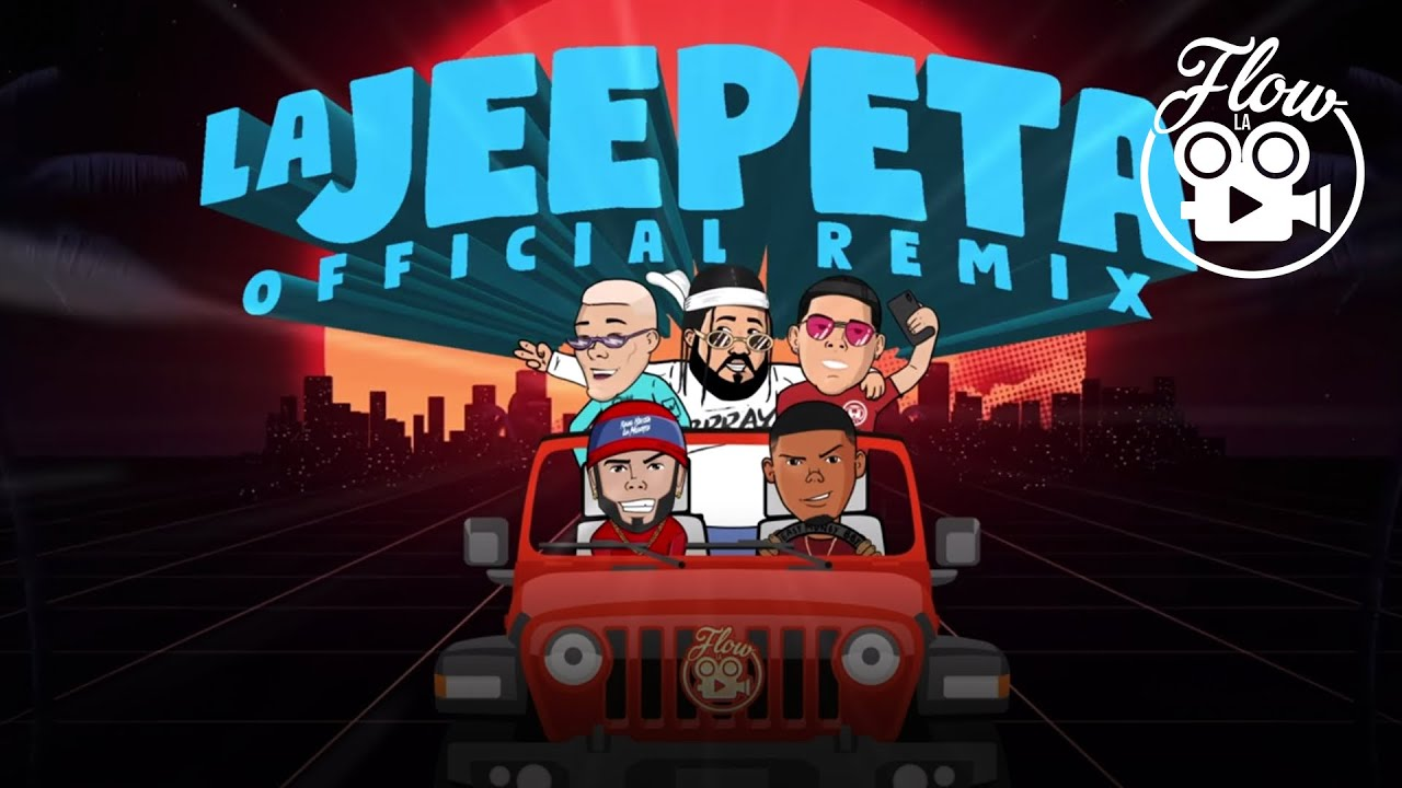 Nio Garcia x Brray x Juanka x Anuel AA x Myke Towers - La Jeepeta Remix (Lyric Video)