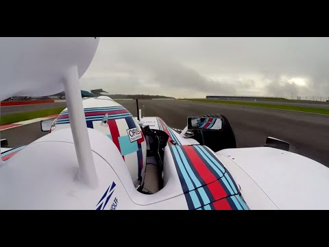 Williams FW36 on track at Silverstone with Susie Wolff