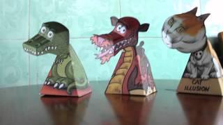 Video Ilusi Kertas Dino T-rex,  Naga dan Kucing download MP3, 3GP, MP4, WEBM, AVI, FLV Juli 2018