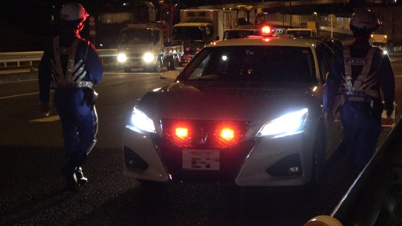 東京都内で赤上げしていた真面目な神奈川県警交通機動隊の覆面パトカー