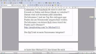 Michi zeigt wie sein kostenloses Ebook funktioniert.Verdiene Geld mit seinem Ebook