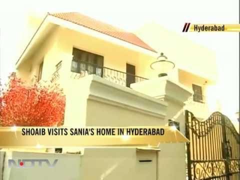 Shoaib visits Sania in Hyderabad