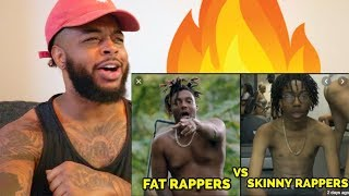 🔥 FAT RAPPERS VS SKINNY RAPPERS 2019 | Reaction