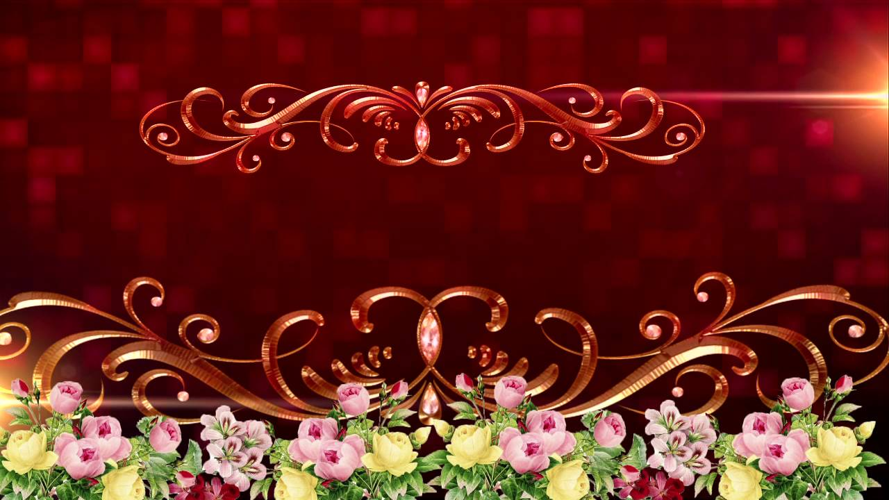 Hd Royalty Background Animation Graphics Wedding Title Background Motion Graphics Pack Youtube