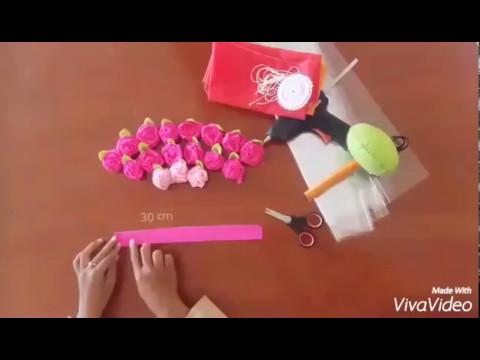 Cara Membuat Bunga Buket Dari Kain Flanel