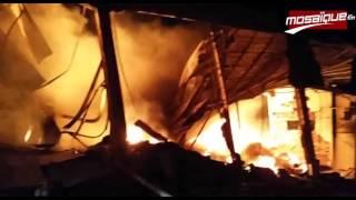 Sfax: Incendie dans une usine de plastique