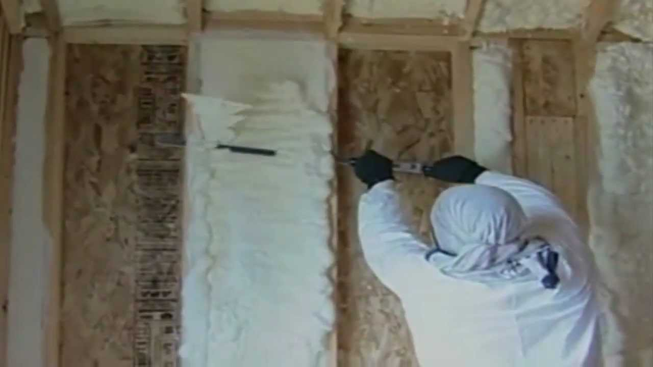 Indiana Spray Foam Insulation Contractor Basement Demo (HD)   YouTube
