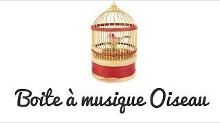 Boite à musique oiseau chanteur