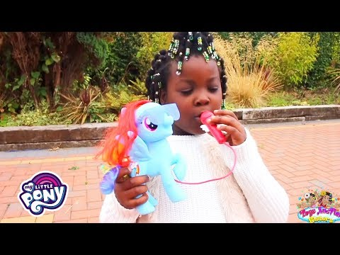 My Little Pony - 'Toys AndFun Sisters' Sing-Along W/ 🌈 Singing Rainbow Dash!