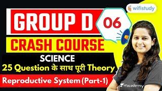 8:30 AM - RRB Group D 2020-21 Crash Course | GS by Shipra Ma'am | Reproductive System (Part-1)