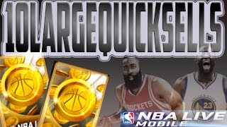 nba live mobile 16 10 new quicksells plus pro packs and sig packs