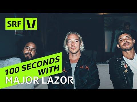 Major Lazer: «Für dieses Interview brauchen wir unsere Anwälte»  || 100 seconds