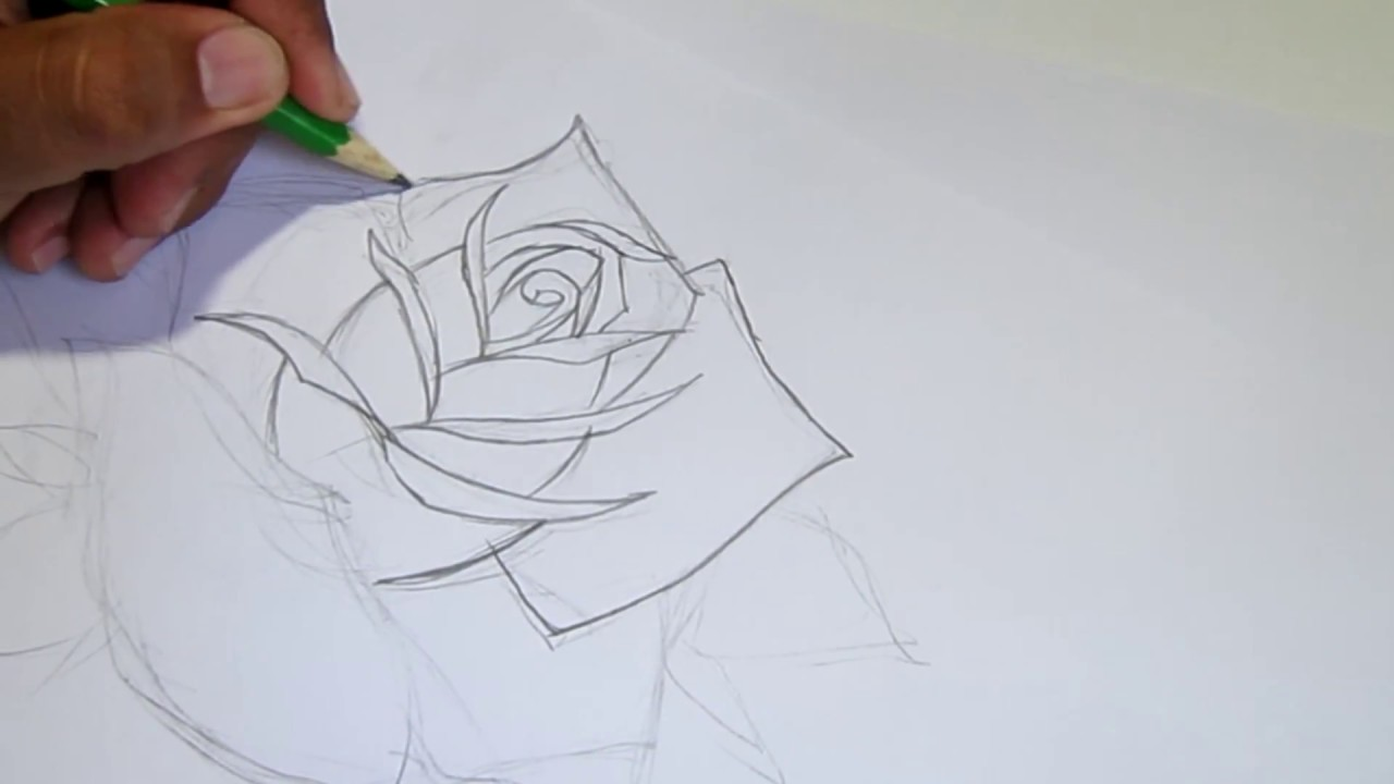 How To Draw Neotraditional Rose Youtube