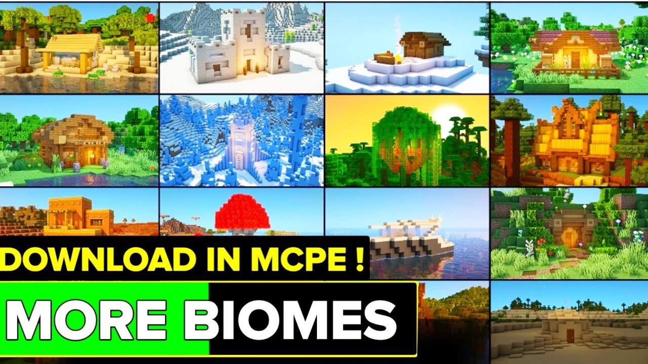 More Biomes Add-on For Minecraft Pe ! More Biomes Mod For Minecraft Pe ! More Biomes Add-on !